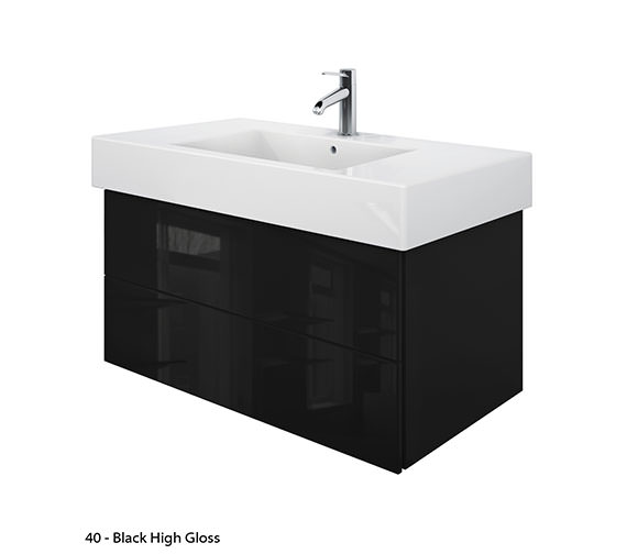 Additional image of Duravit Delos 2 Drawers Jade High Gloss Unit With Vero 1050mm Basin