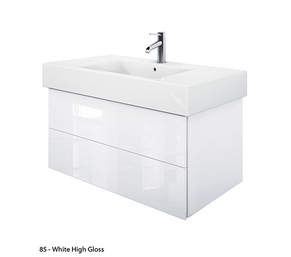Alternate image of Duravit Delos 2 Drawers Jade High Gloss Unit With Vero 1050mm Basin