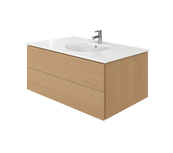 Duravit Delos 2 Drawers Brushed Oak Unit With Darling New 1030mm Basin