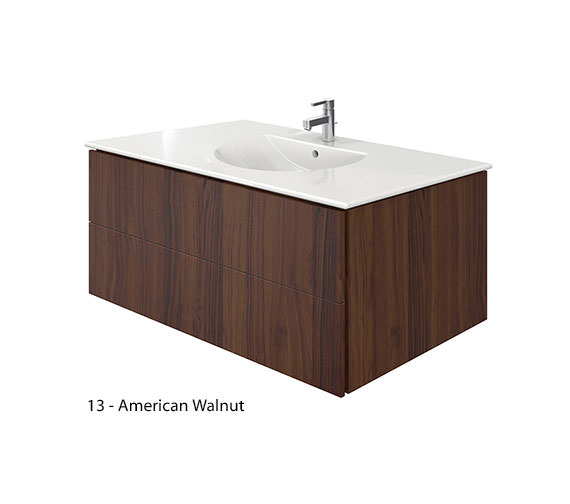 Additional image of Duravit Delos 2 Drawers Brushed Oak Unit With Darling New 1030mm Basin