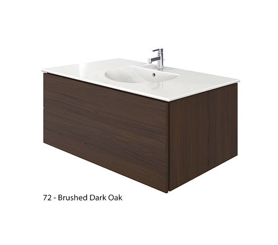 Alternate image of Duravit Delos 2 Drawers Brushed Oak Unit With Darling New 1030mm Basin