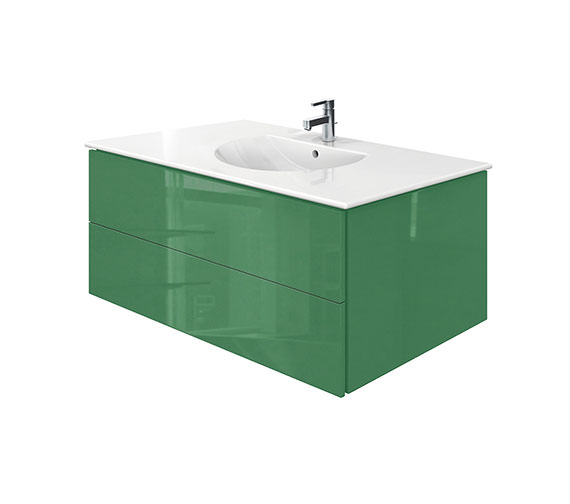 Duravit Delos 2 Drawers Jade High Gloss Unit With Darling New 1030mm Basin