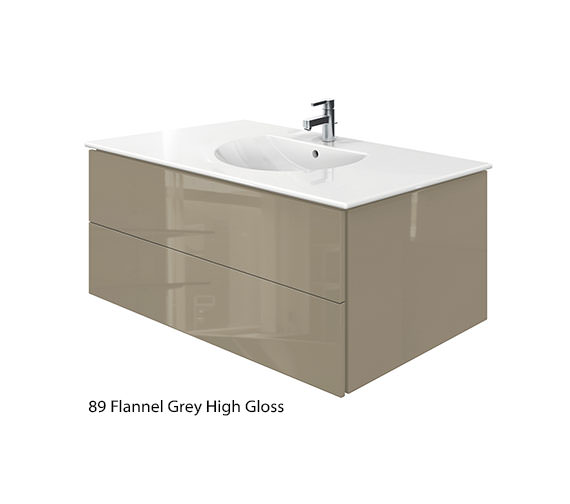 Alternate image of Duravit Delos 2 Drawers Jade High Gloss Unit With Darling New 1030mm Basin