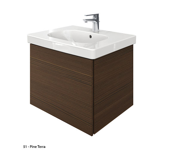 Additional image of Duravit Delos 1 Compartment Unit With D-Code 650mm Basin