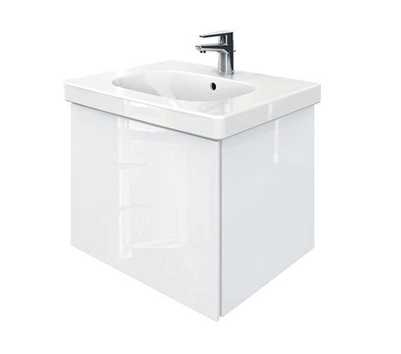 Duravit Delos 1 Compartment Unit With D-Code 650mm Basin - White High Gloss