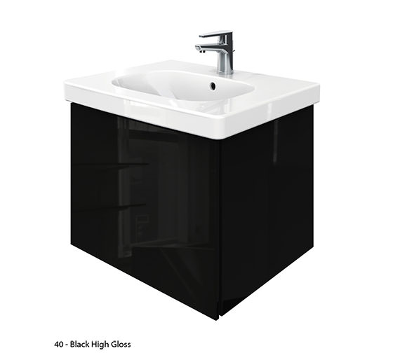 Additional image of Duravit Delos 1 Compartment Unit With D-Code 650mm Basin - Jade High Gloss