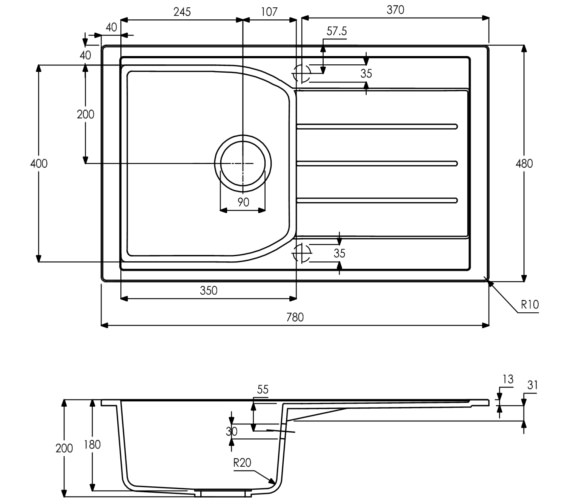 Technical drawing QS-V8700 / AW3114