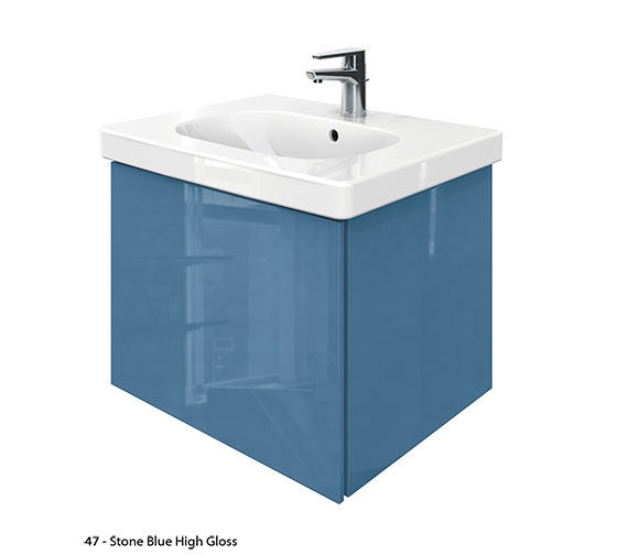 Alternate image of Duravit Delos 1 Compartment Unit With D-Code 650mm Basin - Jade High Gloss