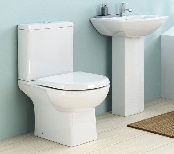 Nuie Asselby 670mm Close Coupled WC Pan And Cistern
