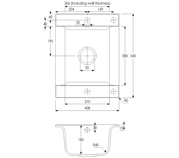 Technical drawing QS-V8268 / AW3104