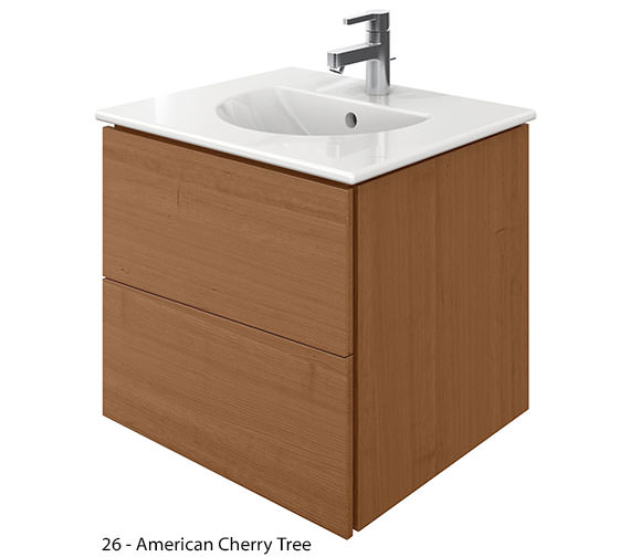 Additional image of Duravit Delos 2 Drawers Brushed Oak Unit With Darling New 530mm Basin