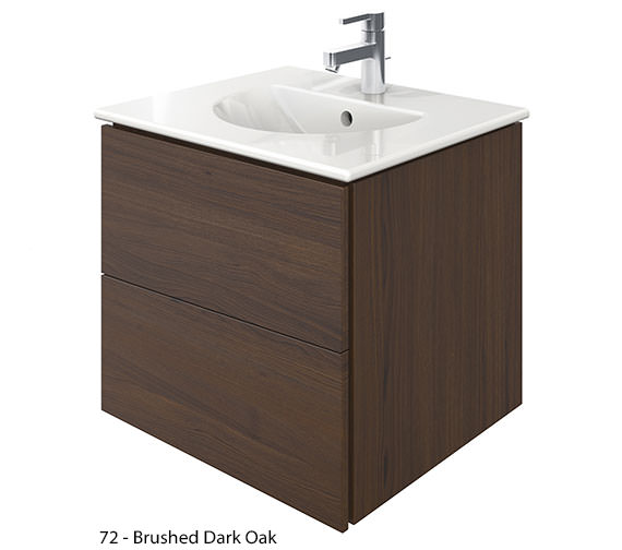 Alternate image of Duravit Delos 2 Drawers Brushed Oak Unit With Darling New 530mm Basin