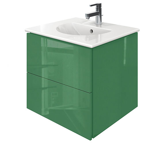 Duravit Delos 2 Drawers Jade High Gloss Unit With Darling New 530mm Basin