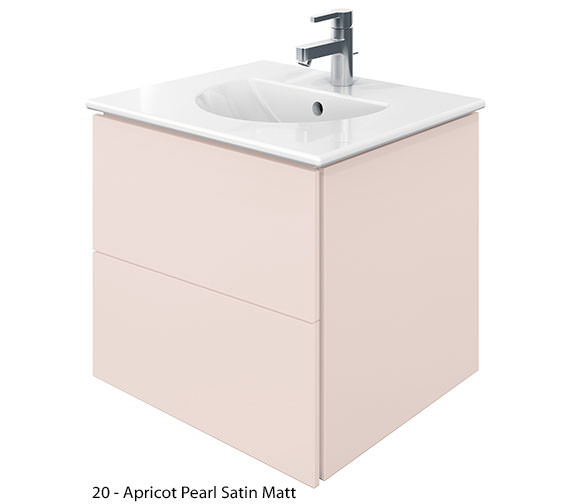 Additional image of Duravit Delos 2 Drawers Jade High Gloss Unit With Darling New 530mm Basin