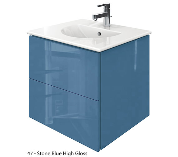 Alternate image of Duravit Delos 2 Drawers Jade High Gloss Unit With Darling New 530mm Basin