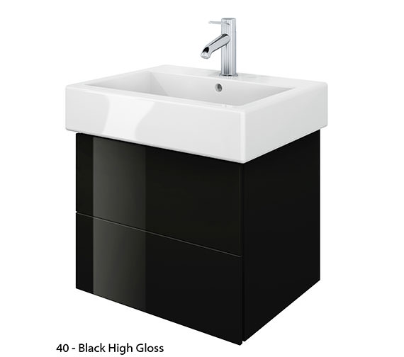 Additional image of Duravit Delos 2 Drawers Jade High Gloss Unit With Vero 500mm Basin