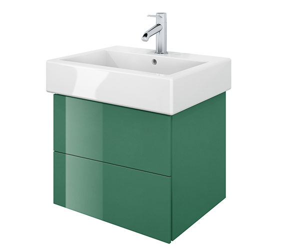 Duravit Delos 2 Drawers Jade High Gloss Unit With Vero 500mm Basin