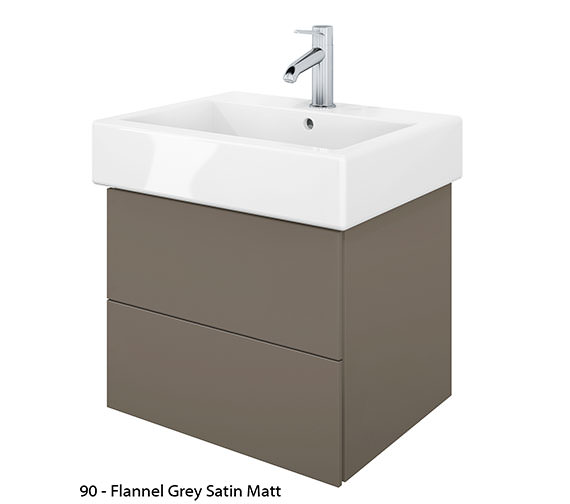 Alternate image of Duravit Delos 2 Drawers Jade High Gloss Unit With Vero 500mm Basin