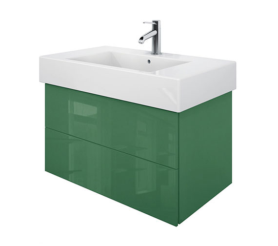 Duravit Delos 2 Drawers Jade High Gloss Unit With Vero 1250mm Basin