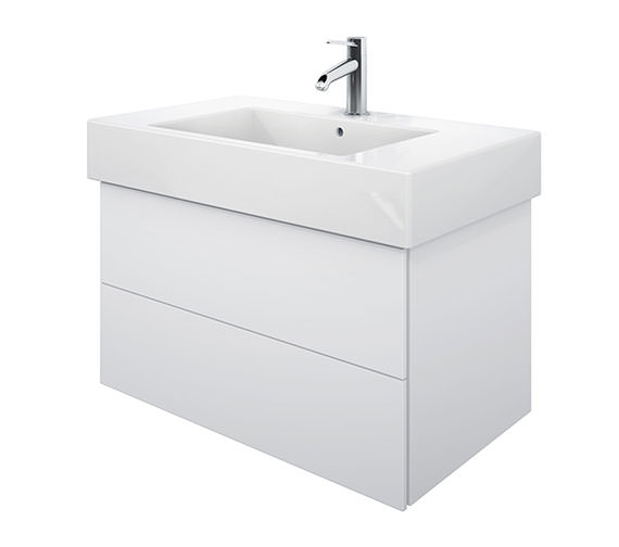 Duravit Delos 2 Drawers White Matt Unit With Vero 1250mm Basin