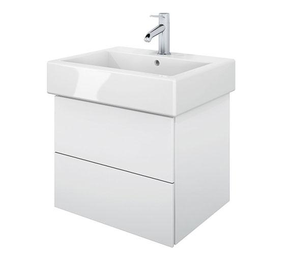 Duravit Delos 2 Drawers White Matt Unit With Vero 500mm Basin