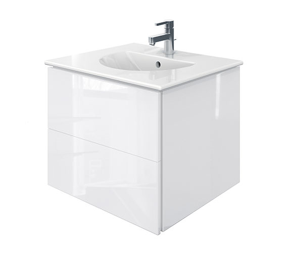 Duravit Delos 2 Drawers White High Gloss Unit With Darling New 630mm Basin