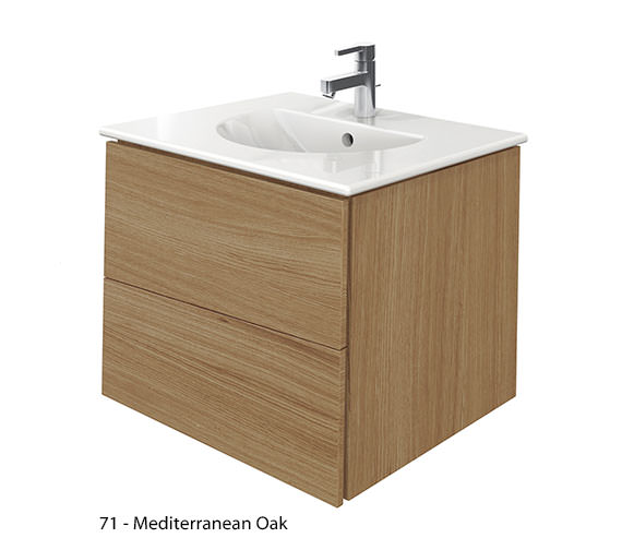 Alternate image of Duravit Delos 2 Drawers Brushed Oak Unit With Darling New 630mm Basin