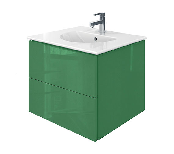 Duravit Delos 2 Drawers Jade High Gloss Unit With Darling New 630mm Basin