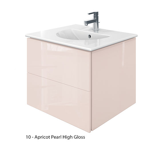 Additional image of Duravit Delos 2 Drawers Jade High Gloss Unit With Darling New 630mm Basin