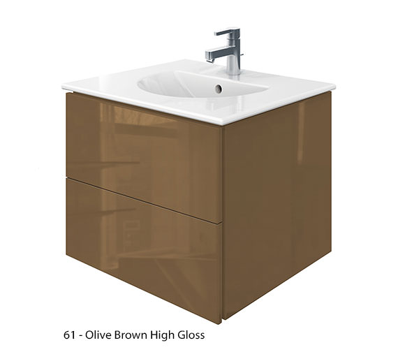 Alternate image of Duravit Delos 2 Drawers Jade High Gloss Unit With Darling New 630mm Basin