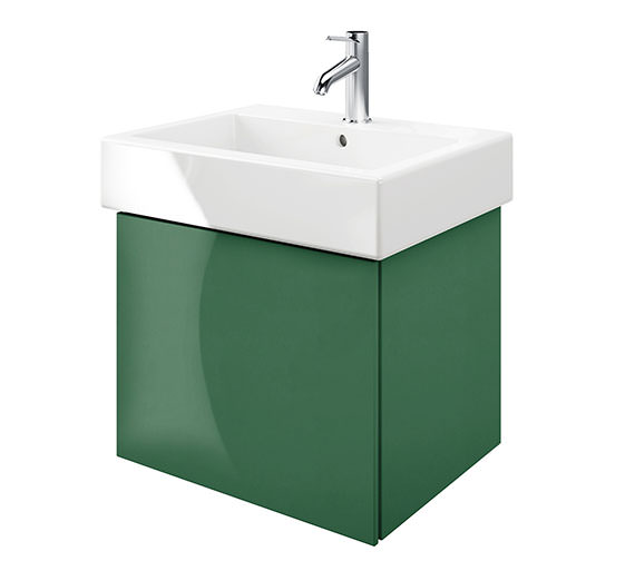 Duravit Delos 1 Compartment Jade High Gloss Unit With Vero 600mm Basin