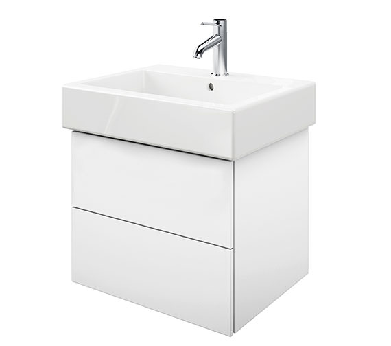 Duravit Delos 2 Drawers White Matt Unit With Vero 600mm Basin
