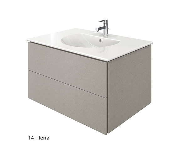 Additional image of Duravit Delos 2 Drawers White Matt Unit With Darling New 830mm Basin