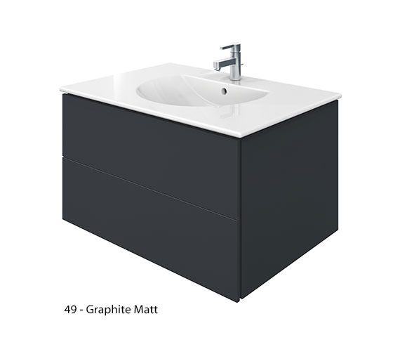 Alternate image of Duravit Delos 2 Drawers White Matt Unit With Darling New 830mm Basin