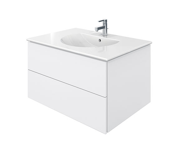 Duravit Delos 2 Drawers White Matt Unit With Darling New 830mm Basin