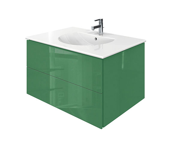 Duravit Delos 2 Drawers Jade High Gloss Unit With Darling New 830mm Basin
