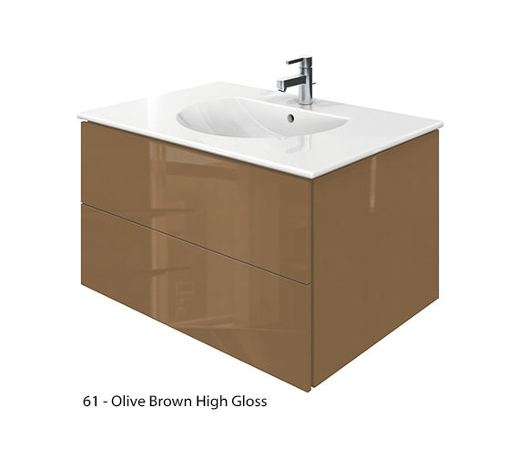 Alternate image of Duravit Delos 2 Drawers Jade High Gloss Unit With Darling New 830mm Basin