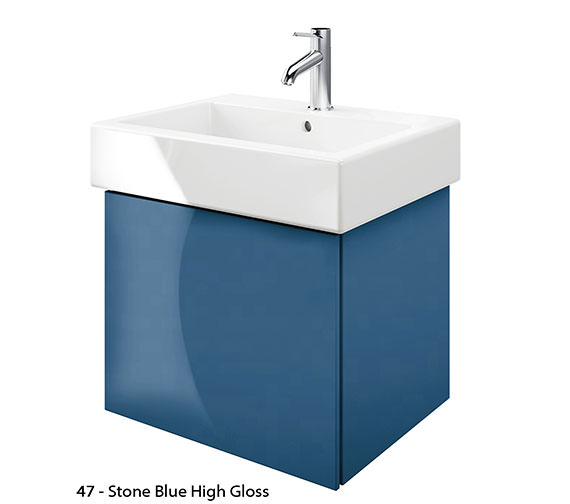 Alternate image of Duravit Delos 1 Compartment Jade High Gloss Unit With Vero 600mm Basin