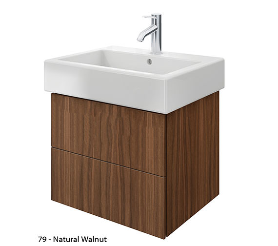 Alternate image of Duravit Delos 2 Drawers White Matt Unit With Vero 600mm Basin