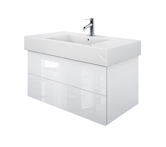 Duravit Delos 2 Drawers White High Gloss Unit With Vero 1050mm Basin