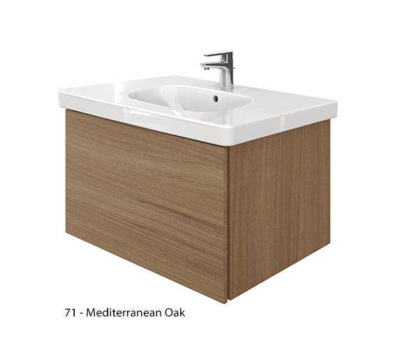 Alternate image of Duravit Delos 1 Compartment Unit With D-Code 850mm Basin - Brushed Oak