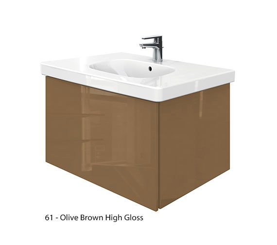 Alternate image of Duravit Delos 1 Compartment Unit With D-Code 850mm Basin - Jade High Gloss