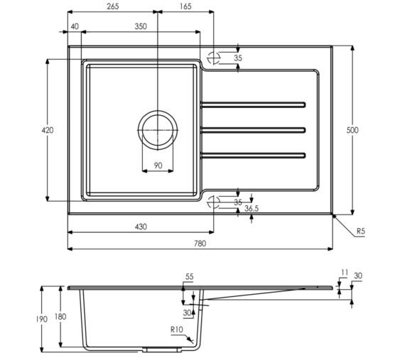 Technical drawing QS-V8248 / AW3119