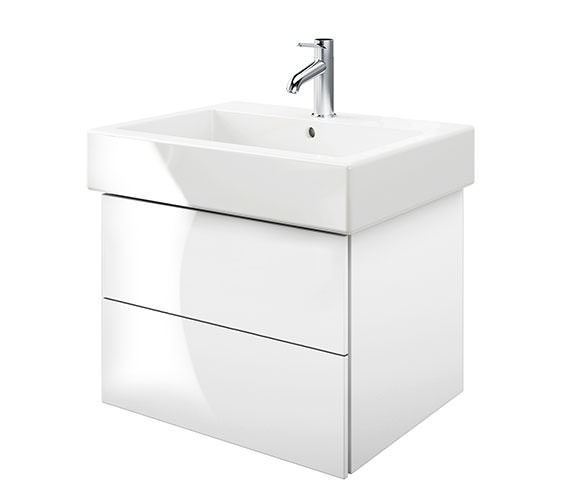 Duravit Delos 2 Drawers White High Gloss Unit With Vero 700mm Basin