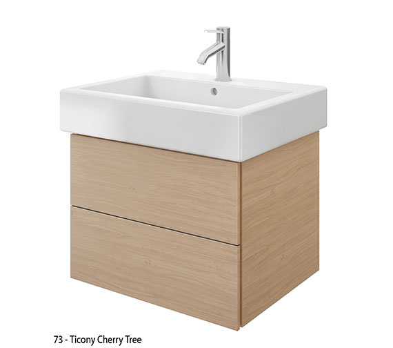 Additional image of Duravit Delos 2 Drawers White High Gloss Unit With Vero 700mm Basin