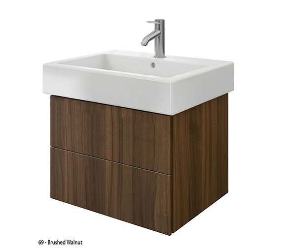 Additional image of Duravit Delos 2 Drawers Brushed Oak Unit With Vero 700mm Basin