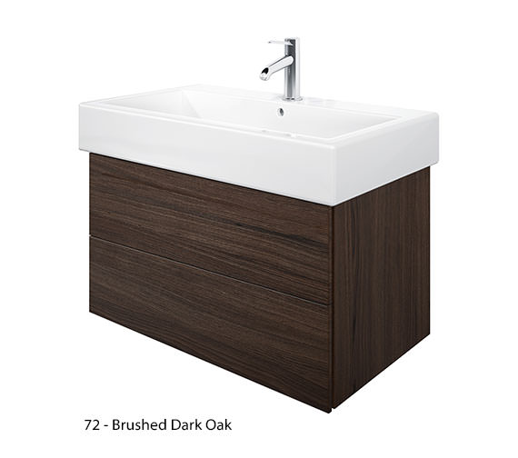 Alternate image of Duravit Delos 2 Drawers Brushed Oak Unit With Vero 800mm Basin