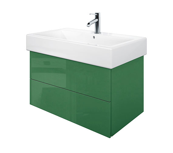 Duravit Delos 2 Drawers Jade High Gloss Unit With Vero 800mm Basin