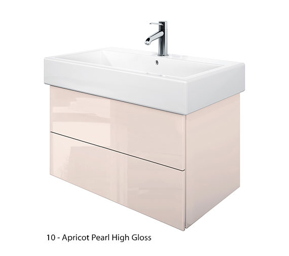 Additional image of Duravit Delos 2 Drawers Jade High Gloss Unit With Vero 800mm Basin