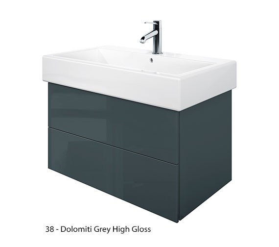 Alternate image of Duravit Delos 2 Drawers Jade High Gloss Unit With Vero 800mm Basin